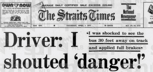 The Straits Times, 1hb April, 1972. Ehsan National Library Board Singapore.